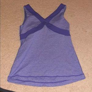 Purple lululemon workout top